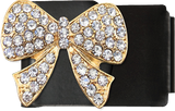Gold Bling Bow Black