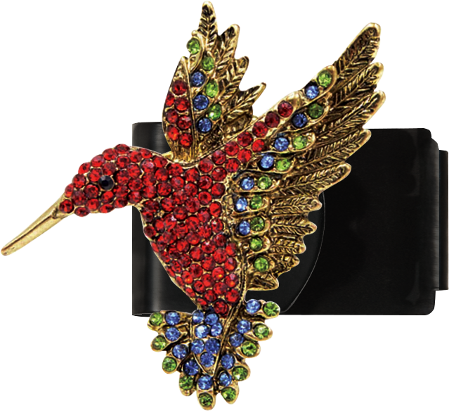 Red Hummingbird Clip
