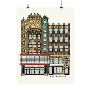 """Alabama Theatre"" Neighborhood Series Print"
