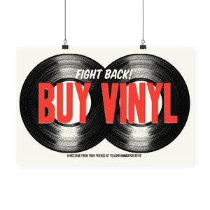"""Fight Back! Buy Vinyl"" Print"