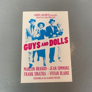 """Guys & Dolls"" at Alabama Theatre Poster"
