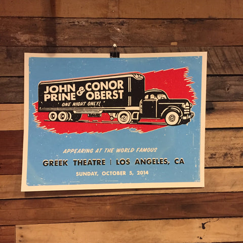 John Prine & Conor Oberst Show Poster