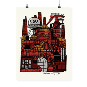 """Sloss Furnaces"" Neighborhood Series Print"