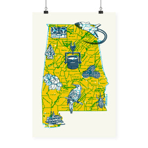 """State Map"" Poster"