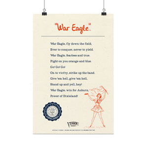 """War Eagle"" Fight Song Poster"
