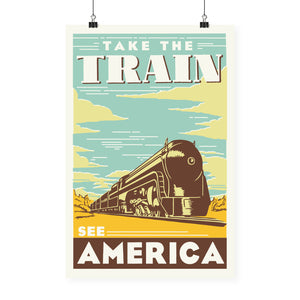 """Take the Train"" Print"