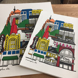 """Downtown"" Neighborhood Series Print"