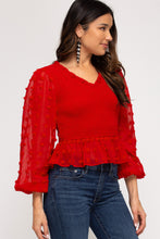 Load image into Gallery viewer, Be My Valentine Top - Red