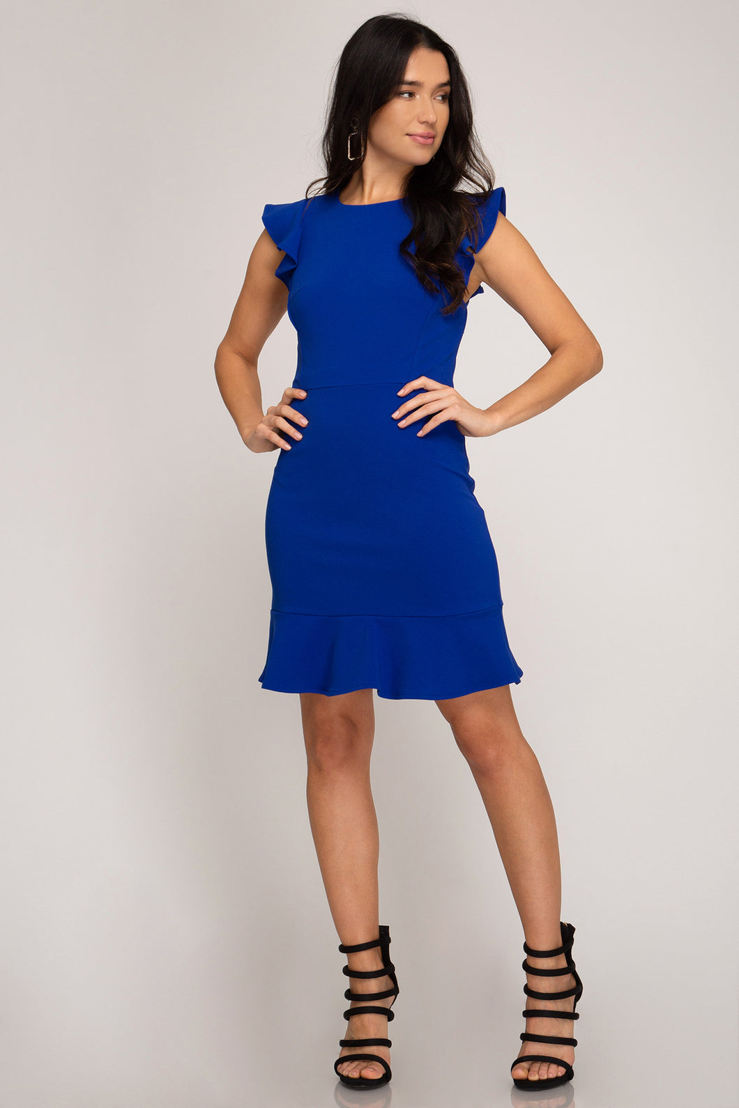 Ruffle Dress - Royal Blue