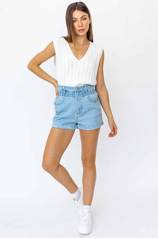 All About It Denim Shorts