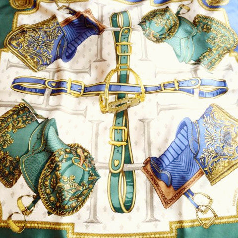 Selles a Housse HERMES silk scarf