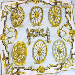 Hermes Silk Scarf Roues De Canon Early Issue