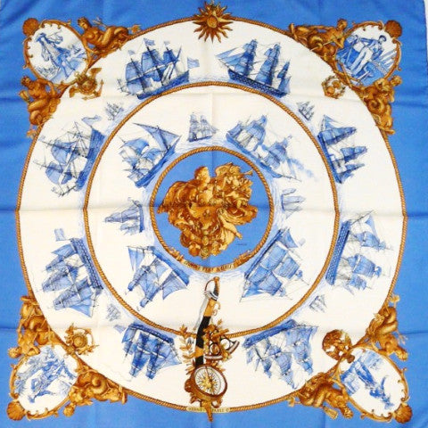Silhouettes Navales HERMES Scarf
