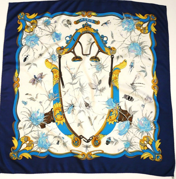 Authentic Vintage Hermes Silk Scarf Ingrid from 1969 Rare