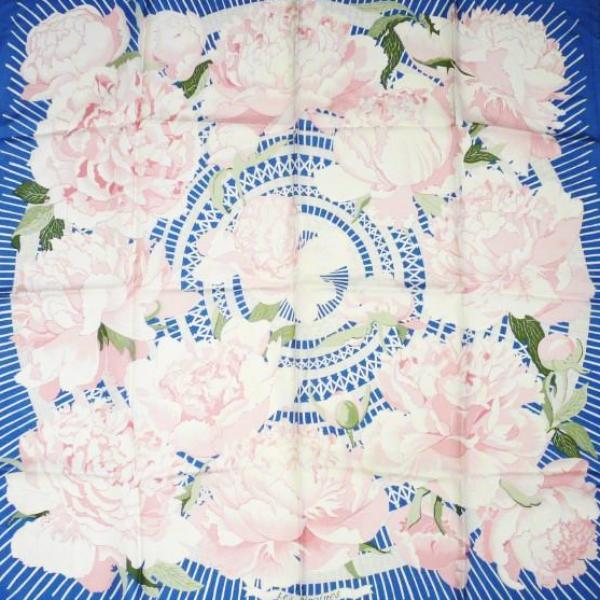 Authentic Vintage Hermes Silk Scarf Les Pivoines by Christiane 1978 RARE