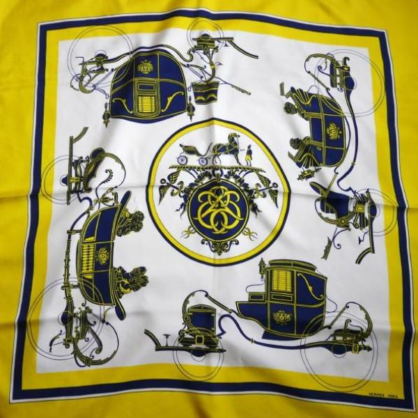 Authentic Vintage Hermes Silk Scarf Ex Libris Hugo Grygkar 1946 Yellow RARE