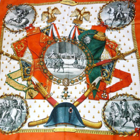 Authentic Vintage Hermes Silk Jacquard Scarf Napoleon by Philippe Ledoux RARE