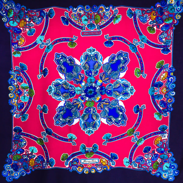 "Hermes Silk Cashmere Anemones 140 cm Giant Scarf 55"" x 55"""