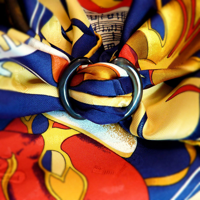 Anneau Infini Horn Scarf Ring with Carnaval de Venise Carre de Paris