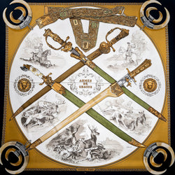 Armes de Chasse Hermes Scarf by Ledoux 90 cm Silk - Early Issue