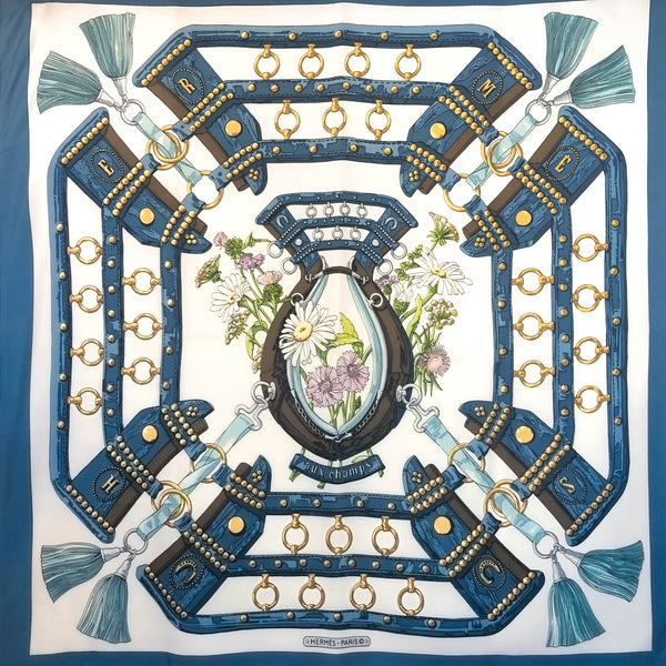 Aux Champs HERMES SCARF BY Latham 90 CM SILK