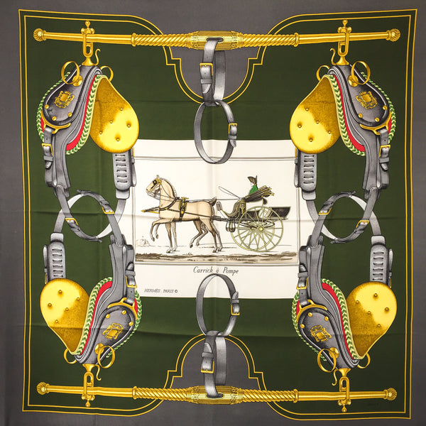 Carrick a Pompe Hermes Silk Scarf - Rare originally issued in 1953