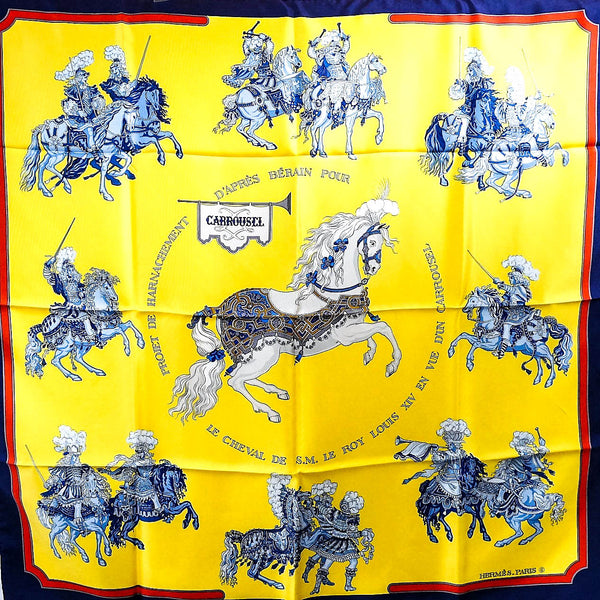 Carrousel HERMES Silk Scarf Early Issue