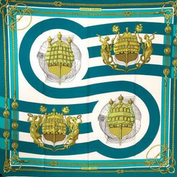 Chateaux d'Arriere Hermes Silk Scarf Early Issue