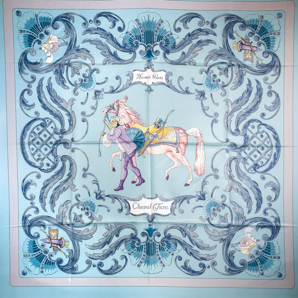 Cheval Turc Hermes silk scarf was originally issued in 1969