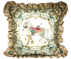 Exclusive European Designer Luxury HERMES Pillow - Cheval Turc