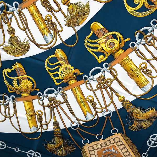 Cliquetis Hermes Scarf by Julia Abadie 90 cm Silk - Early Issue