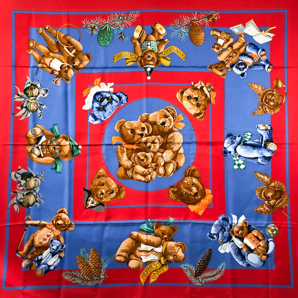 Confidents Des Coeurs Hermes Scarf by Loic Dubigeon 90cm Silk