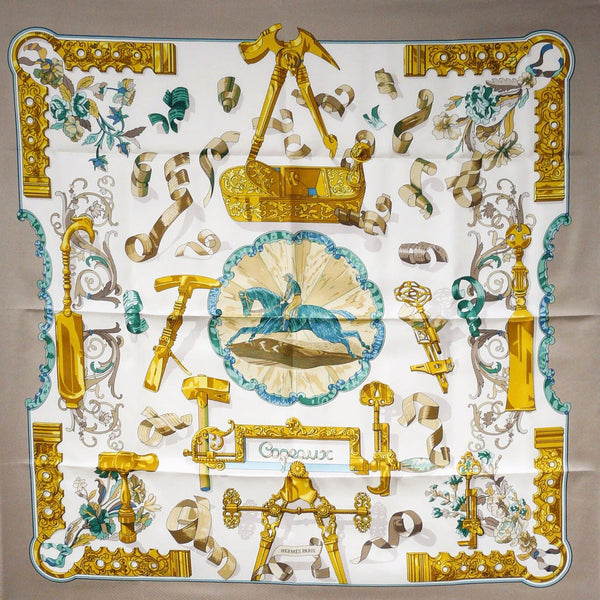 Copeaux Hermes Silk Scarf by CdP