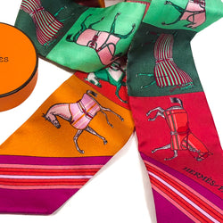 Couvertures Nouvelles Hermes Silk Twilly NIB