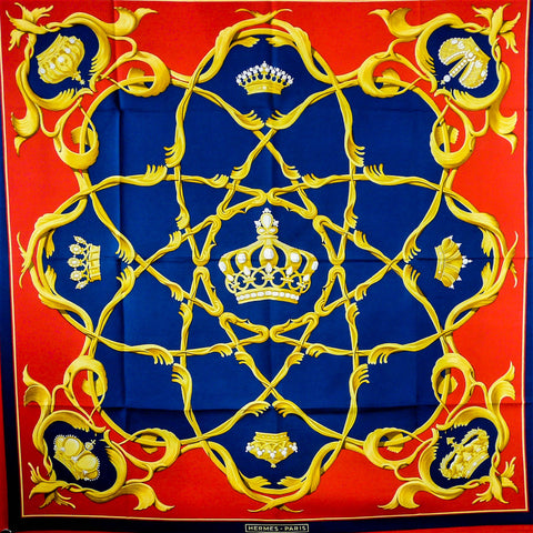 Crown HERMES Silk Scarf is also known as Couronnes and Crowns