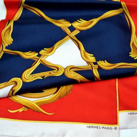 Crowns HERMES Paris Silk Opera Scarf