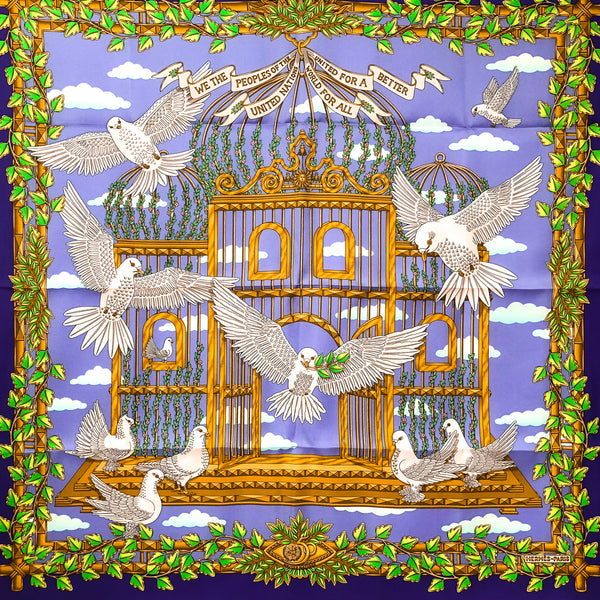 Envol United Nations Hermes Silk Scarf RARE Special Issue | Carre de Paris