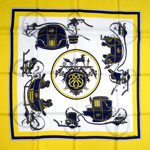 Ex Libris HERMES Early Issue Silk Scarf