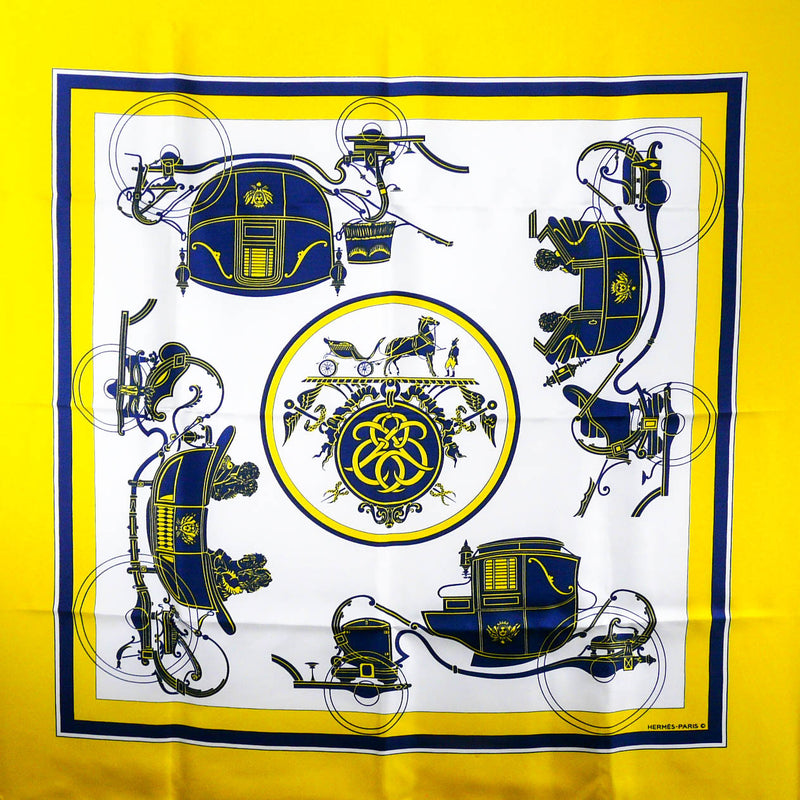 Ex Libris HERMES Scarf Yellow Early Issue