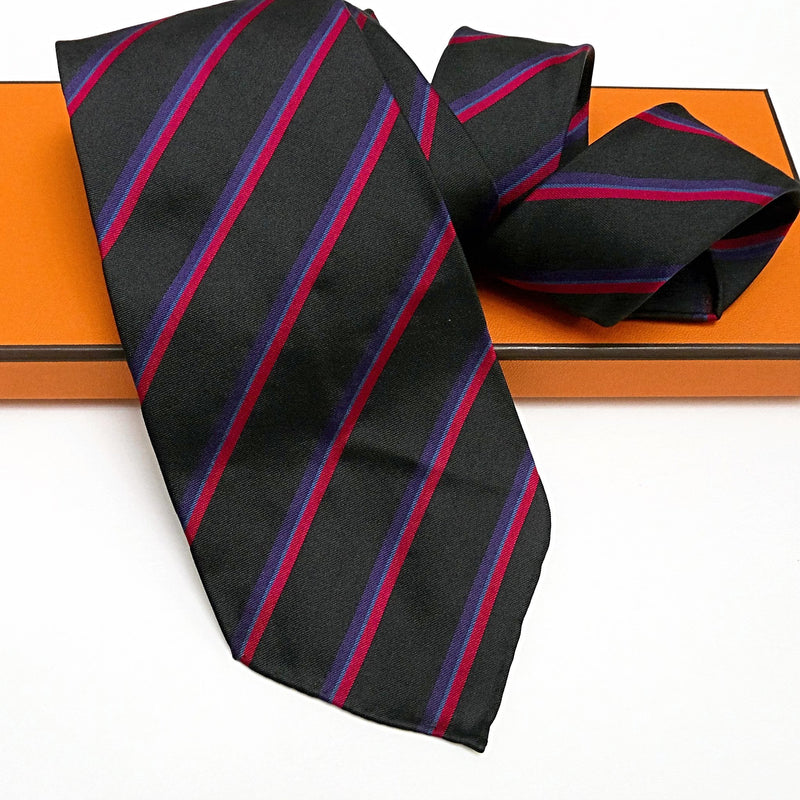 HERMES Tie with Handrolled edges