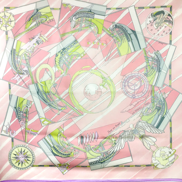 Face au Large Hermes Silk Scarf Light Pink