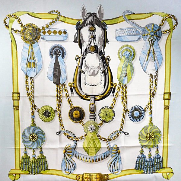 Hermes Silk Scarf Frontaux et Cocardes 90cm twill