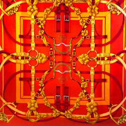 Grand Manège Hermes Scarf (100% silk twill) was designed by Henri d'Origny in 1990