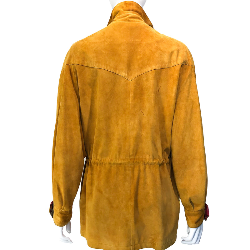 Backside of this fabulous Hermes Suede Jacket