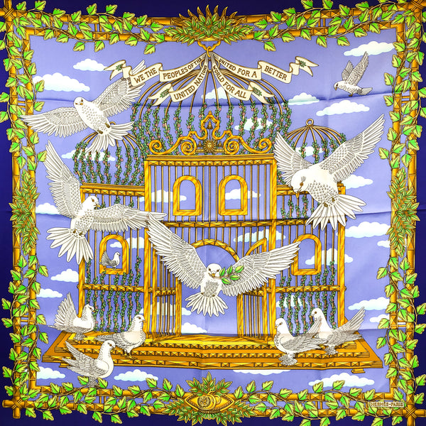 Envol Hermes Silk Scarf RARE Special Issue | Carre de Paris