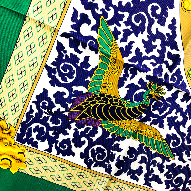 Nikko Hermes silk scarf (100% silk) - was inspired by a Japanese temple. Read more at Carre de Paris
