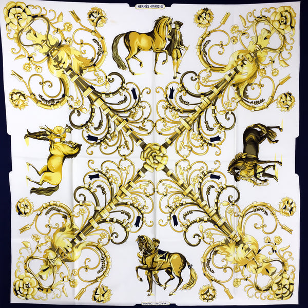 Parc Royal Hermes Silk Scarf 90 cm silk twill