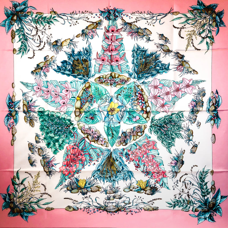 Pythagore Hermes Silk Scarf by Zoe Pauwels