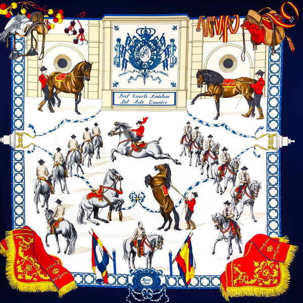 Real Escuela Andaluza Hermes Silk Scarf