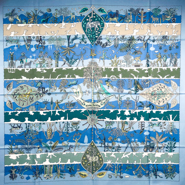 Rives Fertiles Hermes silk scarf (100% silk) 90 cm